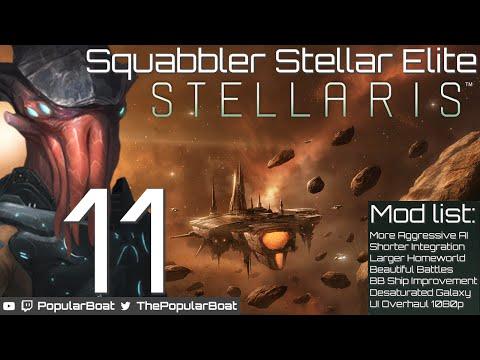 Squabbler Stellar Elite [Modded Stellaris   600 Systems] - Part 11 - Aggressive neighbours