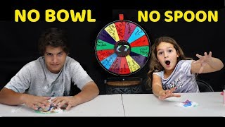 NO BOWL , NO SPOON CHALLENGE | KENDRY WITH EMILY | SISTER FOREVER