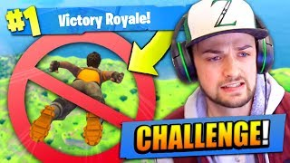 NO SKY-DIVE CHALLENGE in Fortnite: Battle Royale!
