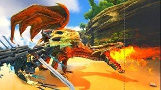 Dragão Chamado Drake Em Busca De Um Território Para Seu Dominio! Ark Survival Evolved