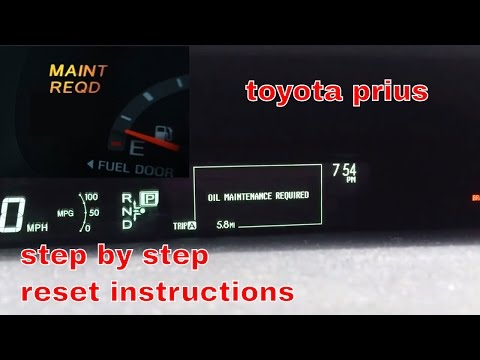 2012 Toyota Prius oil maintenance required light reset