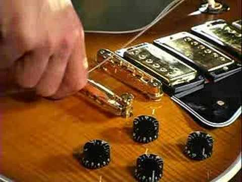 How To String A Guitar (stop Bar Tailpiece) video