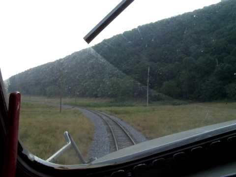 POTOMAC EAGLE  Cab Ride on former B&LE F7 near Romney, WV.  June 2010
