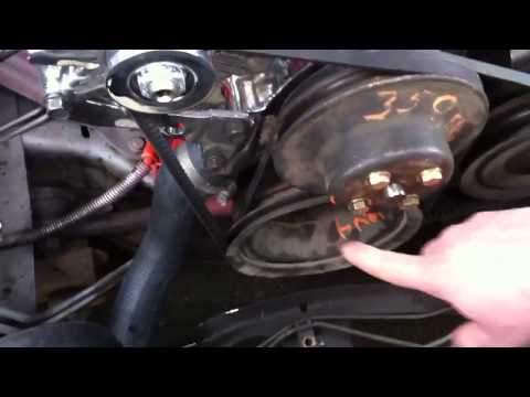 How To Install a Power Steering Belt TALK Through - Chevrolet Truck C10