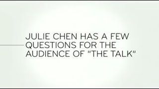 """Last Week Tonight - And Now This: Julie Chen Has a Few Questions for the Audience of """"The Talk"""""""