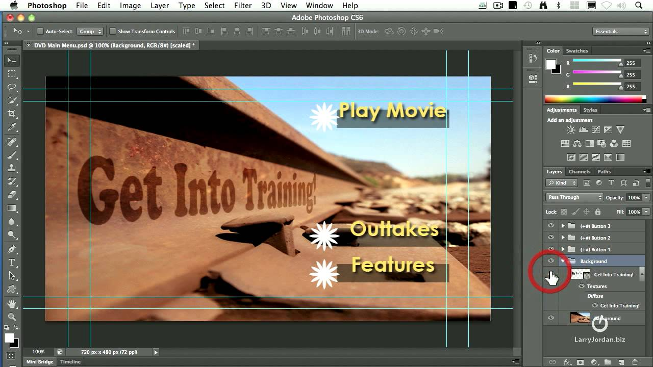 how to make preview default over adobe