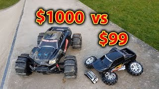 $1000 vs $99 RC Car Test with Demolition Derby
