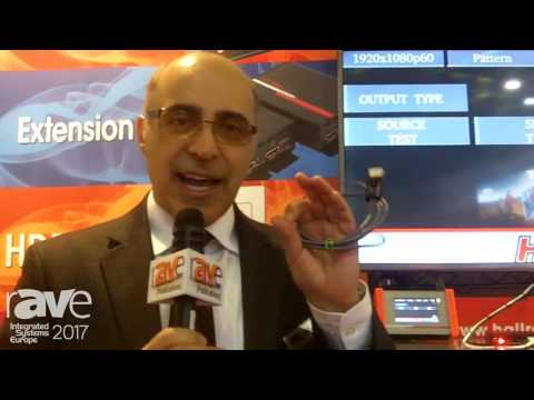 ISE 2017: Hall Research Demos Plenum Rated Hybrid HDMI Cable With Detachable Javelin Connector