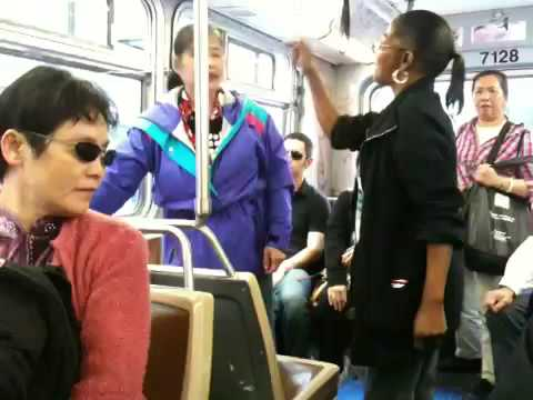 Fight on SF Muni Bus in Chinatown (annotated) Video