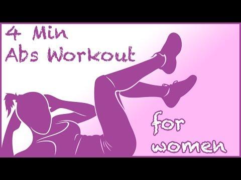 Ćwiczenie Mięśni Brzucha Przez 4 Minut - Dla Kobiet  - No Music