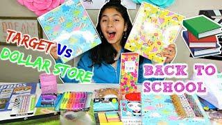 BACK TO SCHOOL HAUL!🍎TARGET Vs DOLLAR STORE B2cutecupcakes