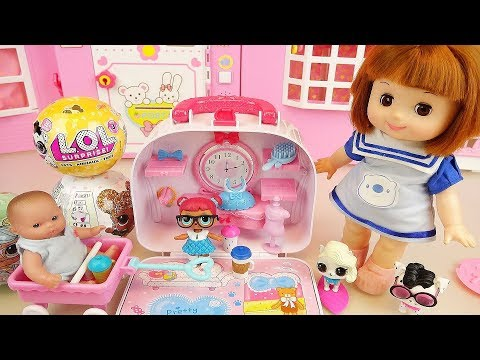 Surprise eggs and Baby doll bag house toys play
