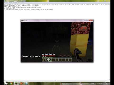 Tutorial de como invocar a Herobrine en Minecraft 1.5.2