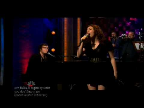 Ben Folds &amp; Regina Spektor - You Don&#039;t Know Me (Rehearsal for Conan O&#039;Brien)