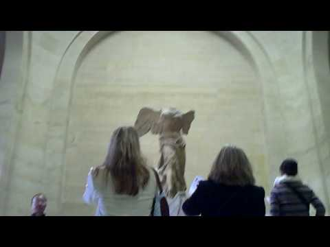 Approaching the Winged Victory of Samothrace in the Louvre Video