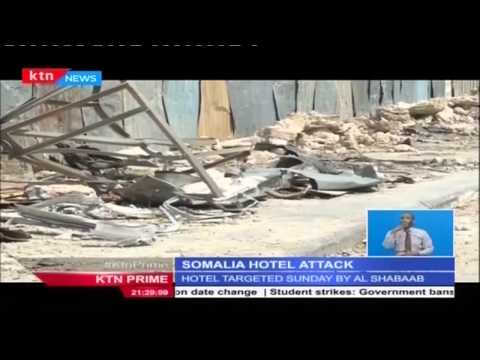 Somali Hotel Jazeera is under repair after attack that left many people dead