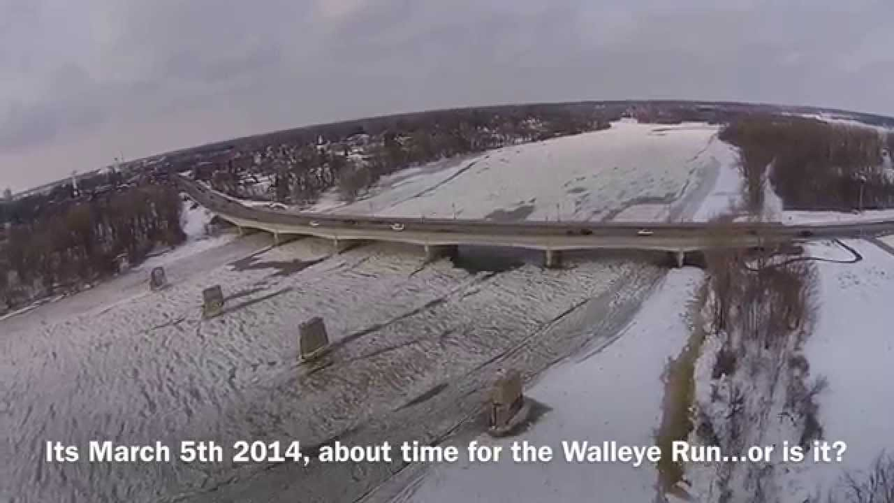 Walleye run 2014 when a lot of ice on the maumee river for Maumee river fishing