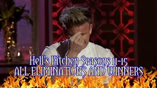 Hell's Kitchen - All Eliminations and Winners (Seasons 11-15) EXTENDED