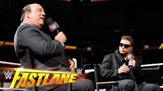 Miz TV with special guest Paul Heyman: WWE Fastlane 2015 Kickoff