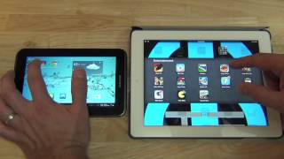 Samsung Galaxy Tab 2 7.0 versus Apple Ipad tercera generacin -