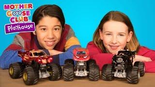Monster Trucks | Superhero Cars Crash | Baby Songs from Mother Goose Club!