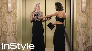 The Best Moments from InStyle's 2018 Golden Globes Elevator | InStyle