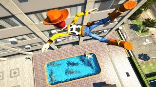 GTA 5 Epic Ragdolls/WOODY from Toy Story 4K Compilation (GTA 5, Fails, Funny Moments)