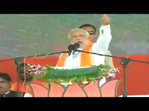 Shri Narendra Modi Speech During Public Meeting In Nanded, Maharashtra - 30th March 2014 video