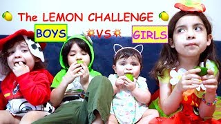 👶🏻FUNNY BABIES Reactions 🤪LIME (Lemon) challenge 🍋Boys vs Girls Who will win?