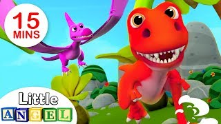 Somos os Dinossauros, 5 Patinhos, Bebê Tubarão + Mais Canções para Bebês | Little Angel