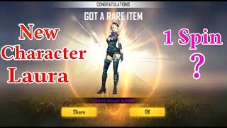 How To Get FreeFire New Character Laura in 1 Spin With Proof ll New Character Laura 1 Spin ll