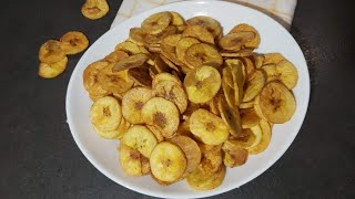 How to make Plantain chips/ Healthy plantain chips well detailed