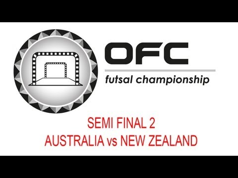2013 OFC Futsal Championship Invitational Match Day 4 Semi Final 2 Australia vs New Zealand