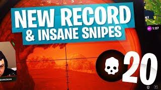 New Personal Record 20 Kill Solo Game w/ Insane Snipes - Fortnite