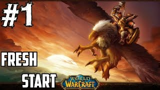Classic World of Warcraft Gameplay Walkthrough Part 1 Fresh Start Leveling Guide 1-110 Tauren