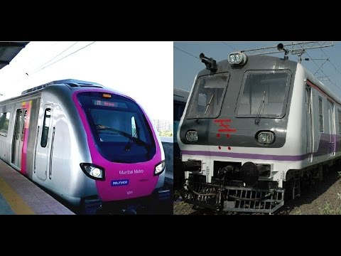 Mumbai Metro Train vs Mumbai Local Train Epic Compilation of 2014 India [HD VIDEO]