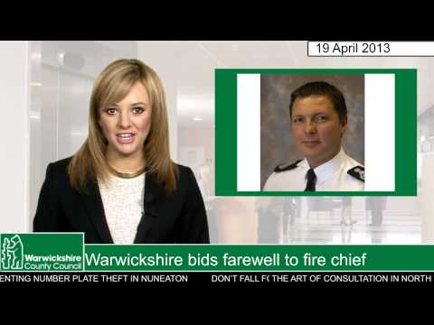 Warwickshire bids farewell to fire chief