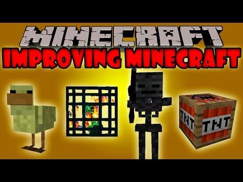 IMPROVING MINECRAFT El mod que Mejora el Juego 100 Minecraft mod 1.7.2 1.7.10 Review