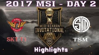 SK Telecom T1 vs Team Solo Mid HIGHLIGHTS | SKT vs TSM Hightlights | 2017 MSI Group Stage