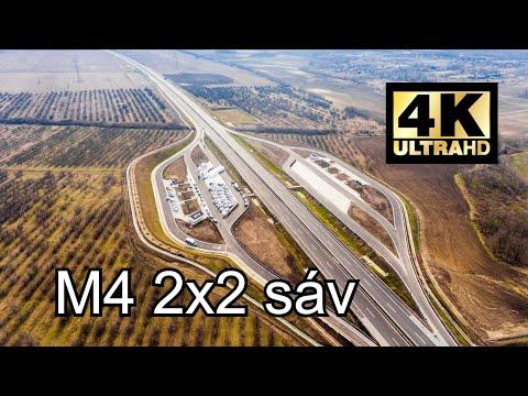 M4 2x2 sáv átadás után 1 nappal - M0 → Szolnok  kb 48 óra 4K felbontás látható lesz !!! 4K Ultra HD
