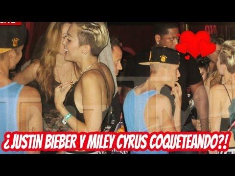 ¿Justin Bieber y Miley Cyrus Coqueteando?!