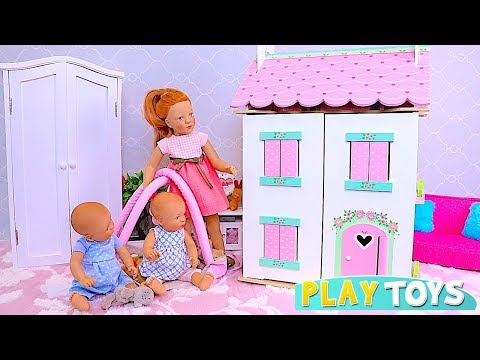 Play Petitcollin Dolls House with Doll Furniture Toys! 🎀