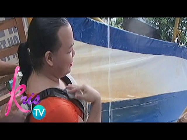 Kris TV: Darla tries giant slide