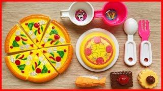 Đồ chơi nấu ăn bánh pizza và bánh ngọt, chuẩn bị bữa sáng (Chim Xinh)