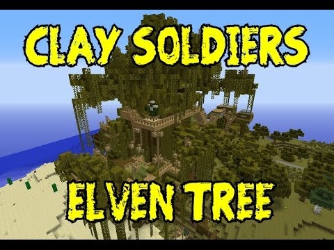 Minecraft Clay Soldiers Civilization Project Season 3 Elven Tree Purple Town