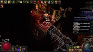 POORJOYS ASYLUM UNIQUE MAP Gameplay with CYCLONE in PATH OF EXILE