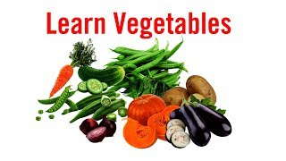 Learn Vegetables Name in English for Kids and Toddlers