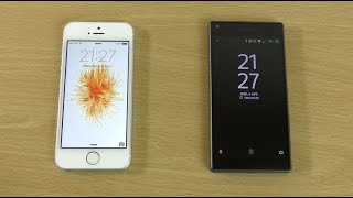 Apple iPhone SE vs Sony Xperia Z5 Compact - Speed & Battery Test!