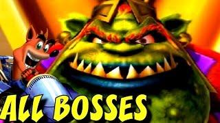 Crash Nitro Kart - ALL Boss Races + Cutscenes