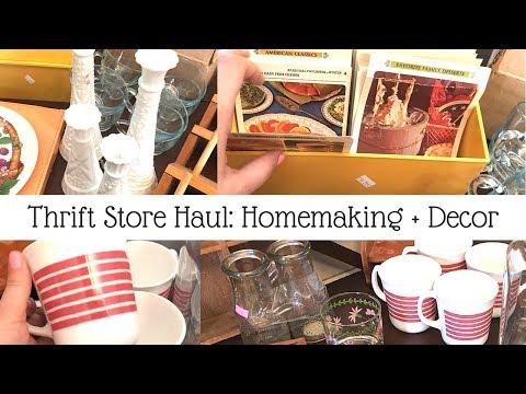 Thrift Haul | Salvation Army : Milk Glass, Corningware + Vintage Recipes!